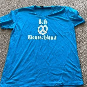 German Oktoberfest tshirt medium blue